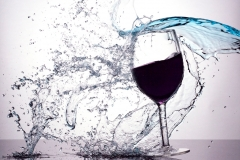 A splash of wine